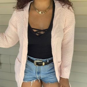 Vintage Style Boho Cable Knit Sweater Cardigan